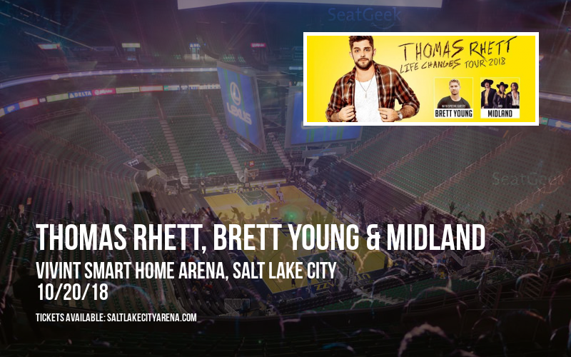 Thomas Rhett, Brett Young & Midland at Vivint Smart Home Arena