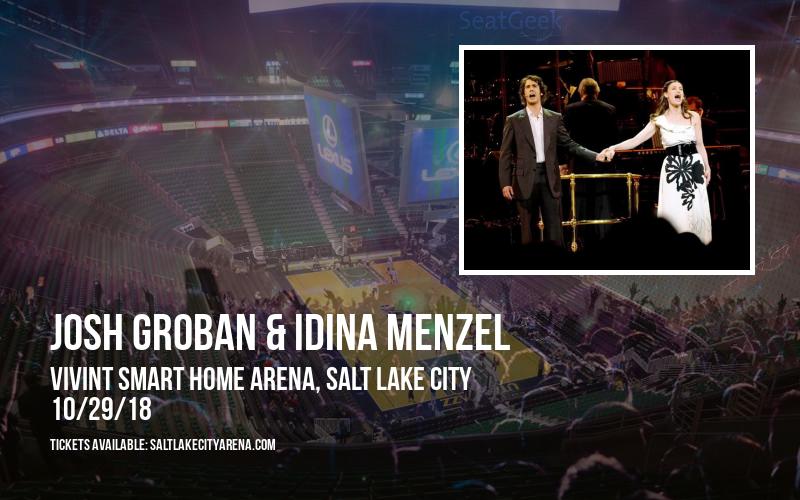 Josh Groban & Idina Menzel at Vivint Smart Home Arena