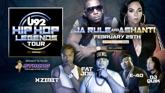 U92 Hip Hop Legends: Ashanti, Ja Rule, Fat Joe & E-40 at Vivint Smart Home Arena