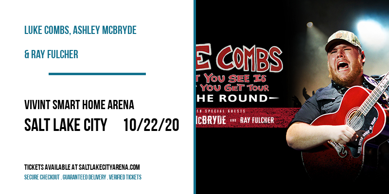 Luke Combs, Ashley McBryde & Ray Fulcher at Vivint Smart Home Arena