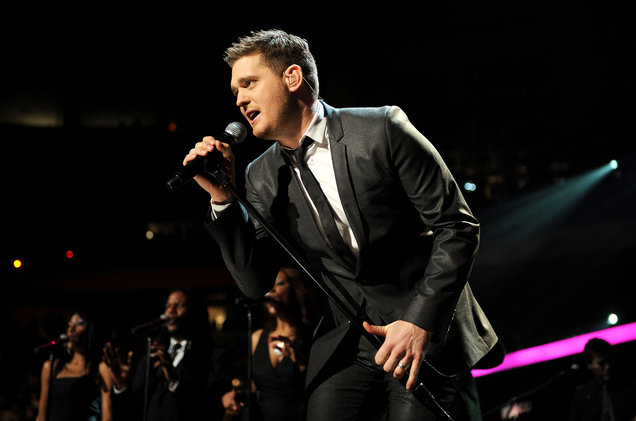Michael Buble at Vivint Smart Home Arena