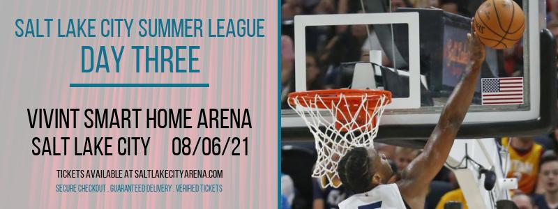 Salt Lake City Summer League -  Day Three at Vivint Smart Home Arena