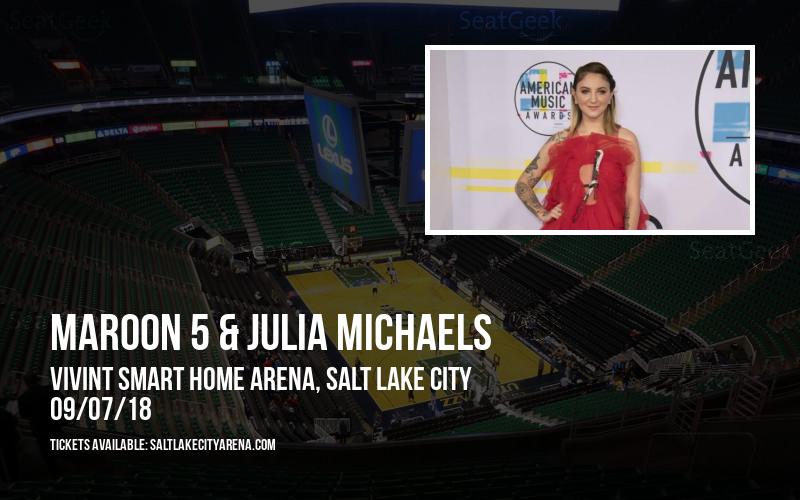 Maroon 5 & Julia Michaels at Vivint Smart Home Arena