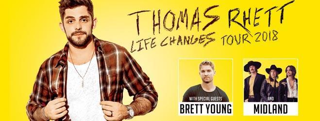 Thomas Rhett, Brett Young & Midland at Vivint Smart Home Arena