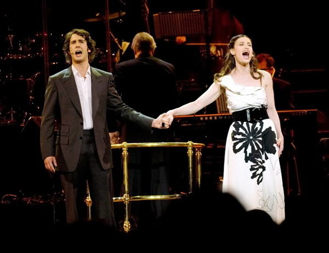 Josh Groban & Idina Menzel at Vivint Smart Home Arena
