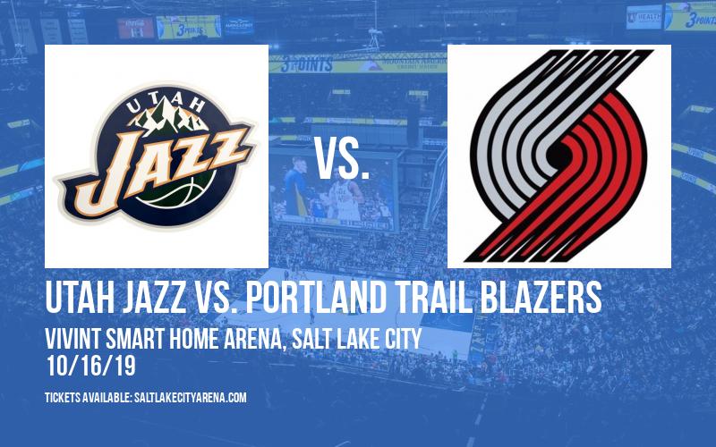 NBA Preseason: Utah Jazz vs. Portland Trail Blazers at Vivint Smart Home Arena