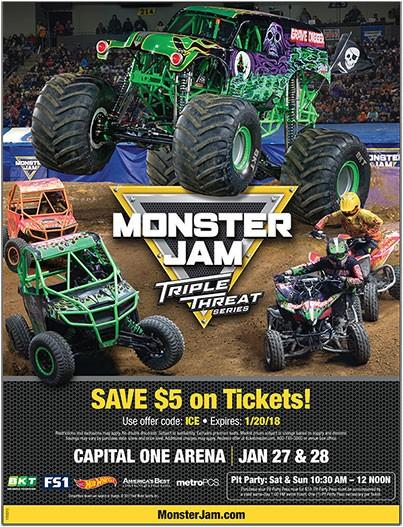 Monster Jam Triple Threat Series at Vivint Smart Home Arena