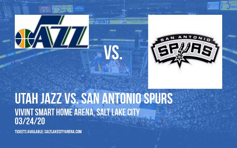 Utah Jazz vs. San Antonio Spurs [CANCELLED] at Vivint Smart Home Arena