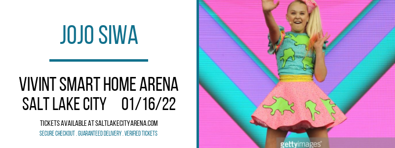 JoJo Siwa at Vivint Smart Home Arena