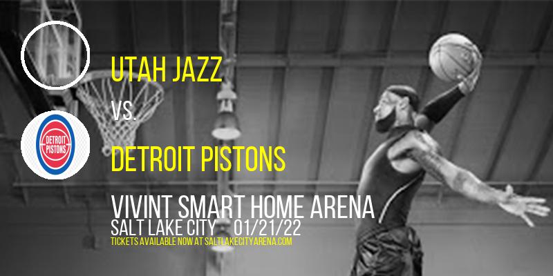 Utah Jazz vs. Detroit Pistons at Vivint Smart Home Arena